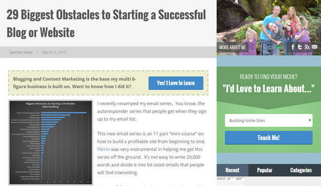 29 Biggest Obstacles to Starting a Successful Blog or Website