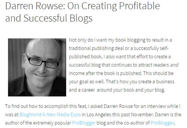Darren Rowse On Creating Profitable and Successful Blogs