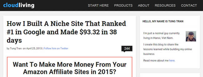How I Built A Niche Site That Ranked