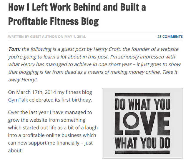 How I Left Work Behind and Built a Profitable Fitness Blog