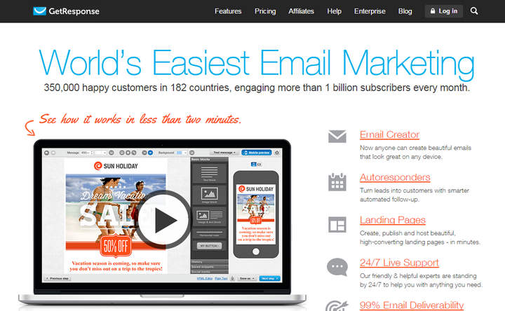 Get Response Email Marketing and Autoresponder Review
