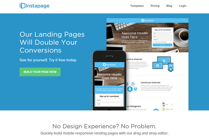 Instapage Landing Page Software Review